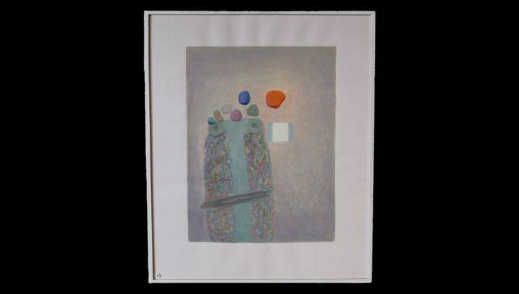Humain, quelques mots et fenêtre- tableau 50 x 40 cm